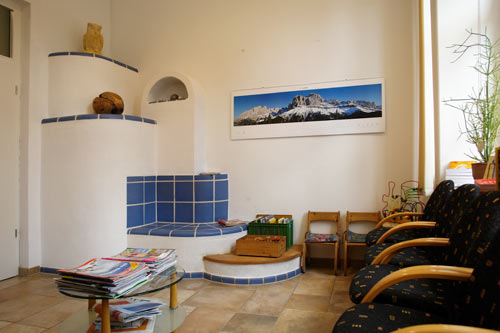 Praxisräume der Hausarztpraxis Horstmar, Wartezimmer